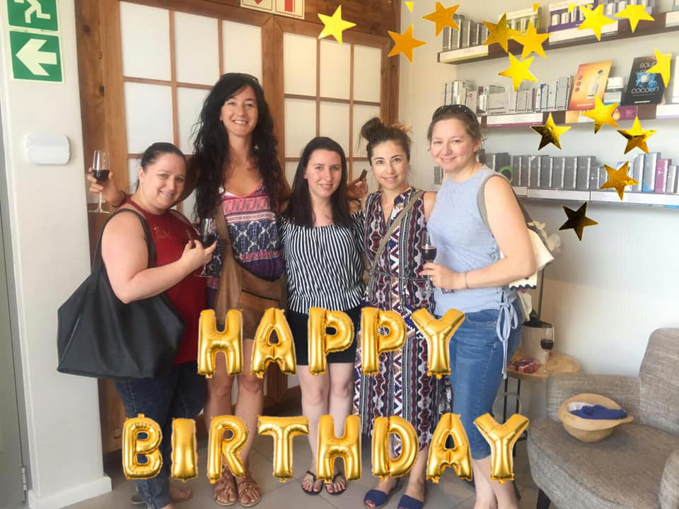 happy birthday photo at Oasis Century city party