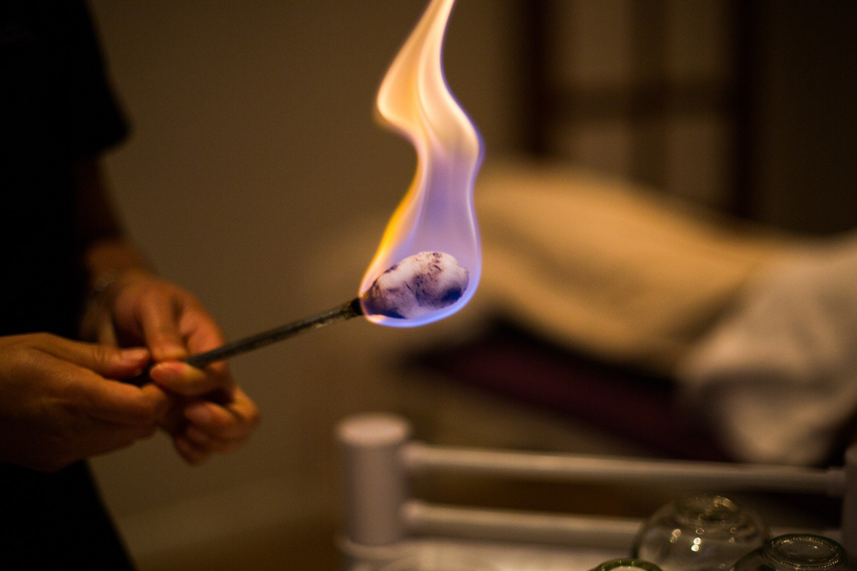 photo of flame for cupping oasis